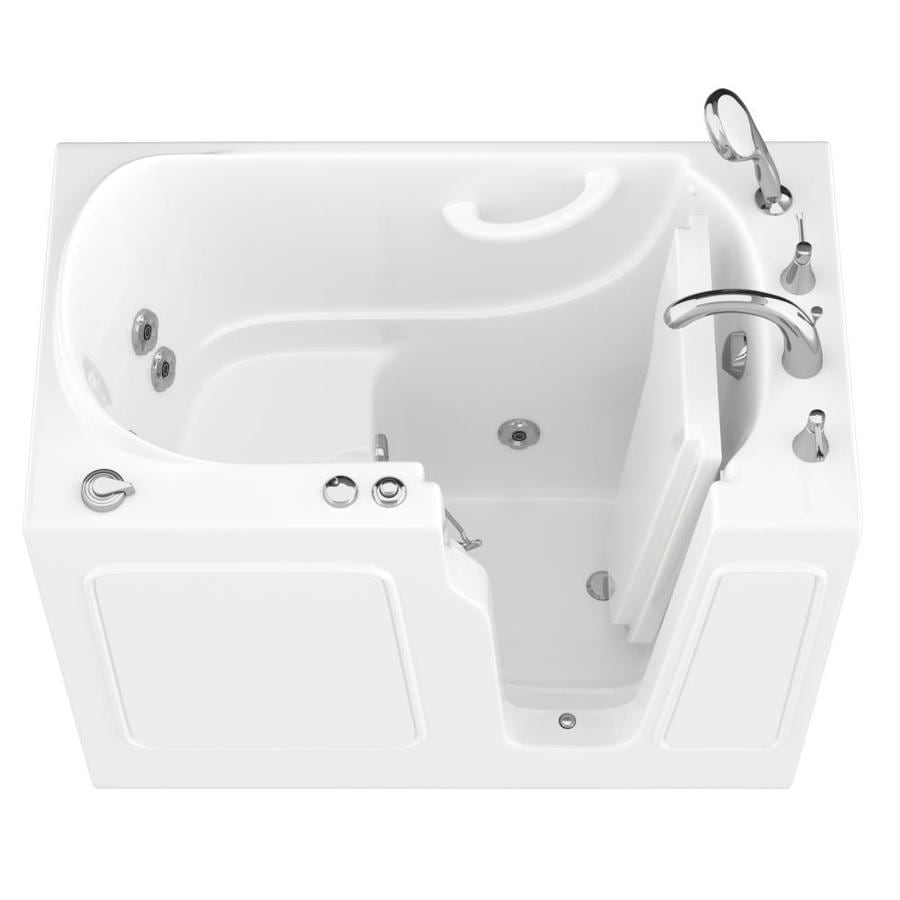 Shop endurance white gelcoat and fiberglass rectangular Fiberglass garden tubs