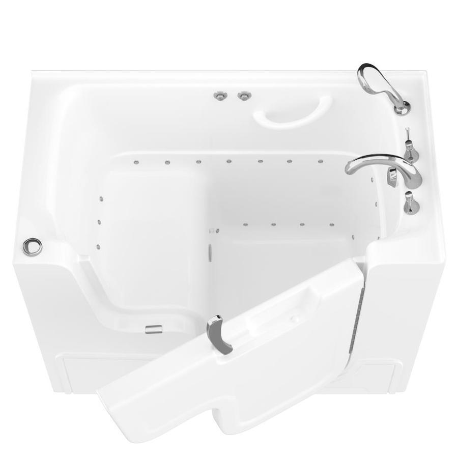 Endurance 53-in L x 29-in W x 42-in H White Gelcoat and Fiberglass Rectangular Walk-in Air Bath