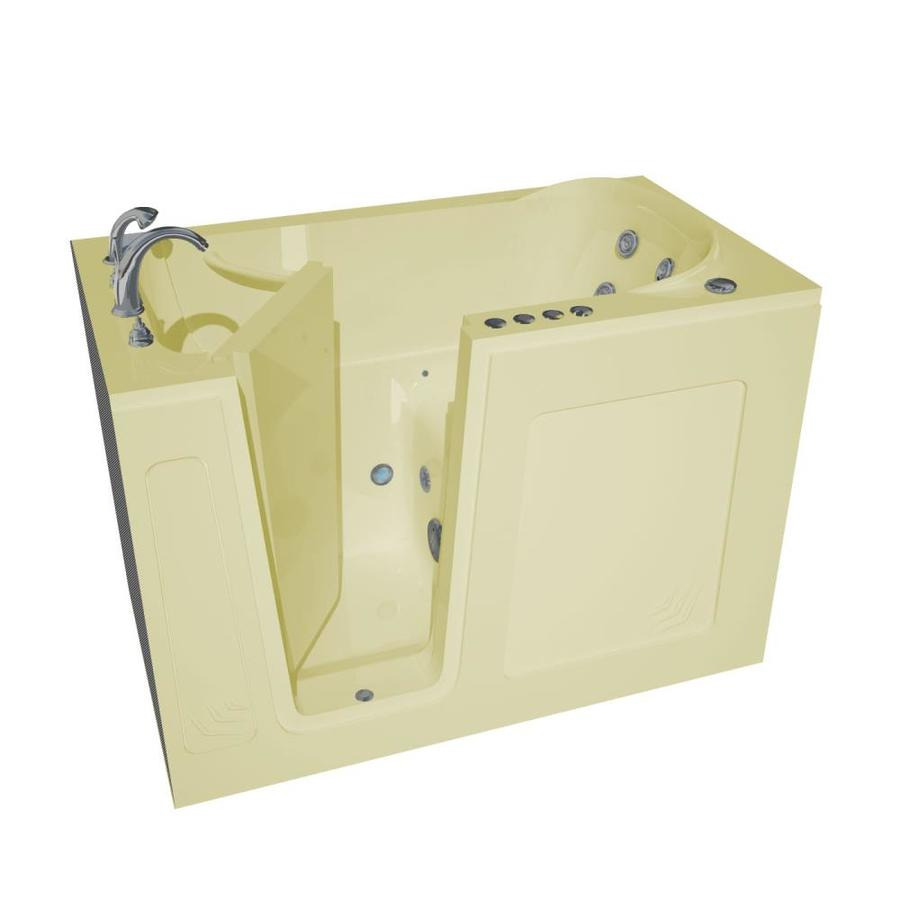Endurance 54-in L x 30-in W x 37-in H Biscuit Acrylic Rectangular Walk-in Whirlpool Tub and Air Bath