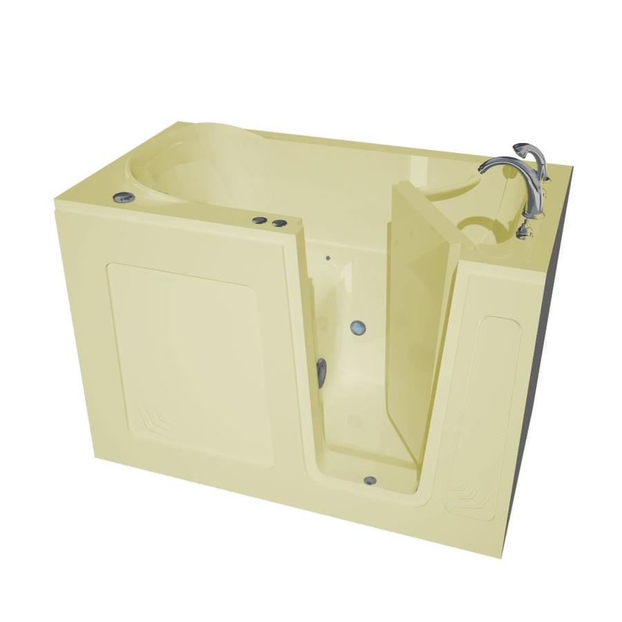 Endurance 54-in L x 30-in W x 37-in H Biscuit Acrylic Rectangular Walk-in Air Bath