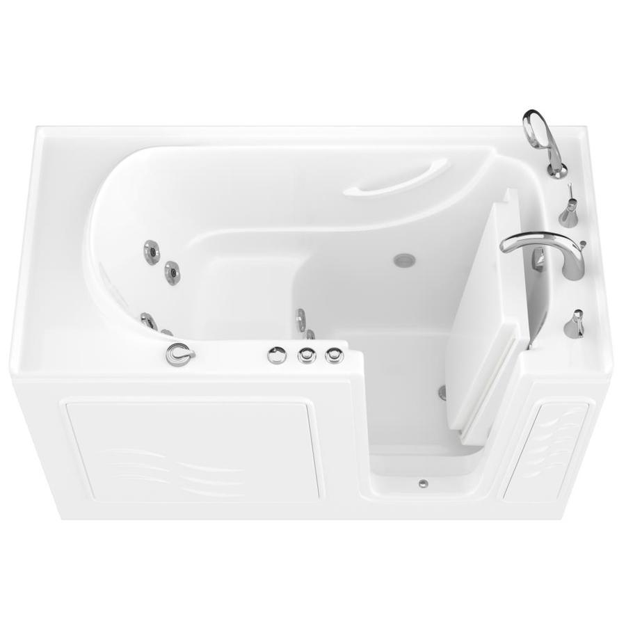 Endurance White Gelcoat and Fiberglass Rectangular Walk-in Whirlpool Tub (Common: 60-in x 30-in; Actual: 38-in x 60-in x 30-in)