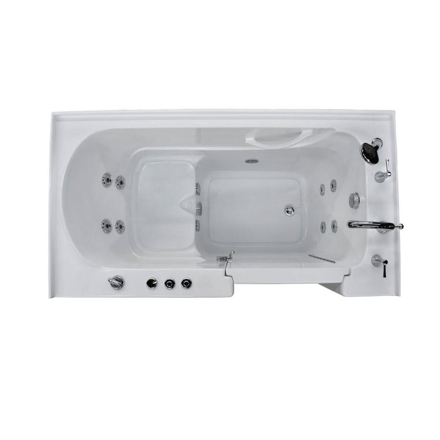 Endurance White Acrylic Rectangular Walk-in Whirlpool Tub (Common: 60-in x 32-in; Actual: 40-in x 60-in x 32-in)