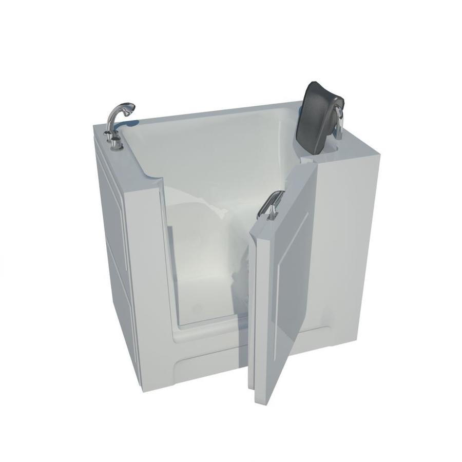 Endurance Acrylic Rectangular Walk-in Bathtub with Left-Hand Drain (Common: 54-in x 30-in; Actual: 36-in x 39-in x 27-in)