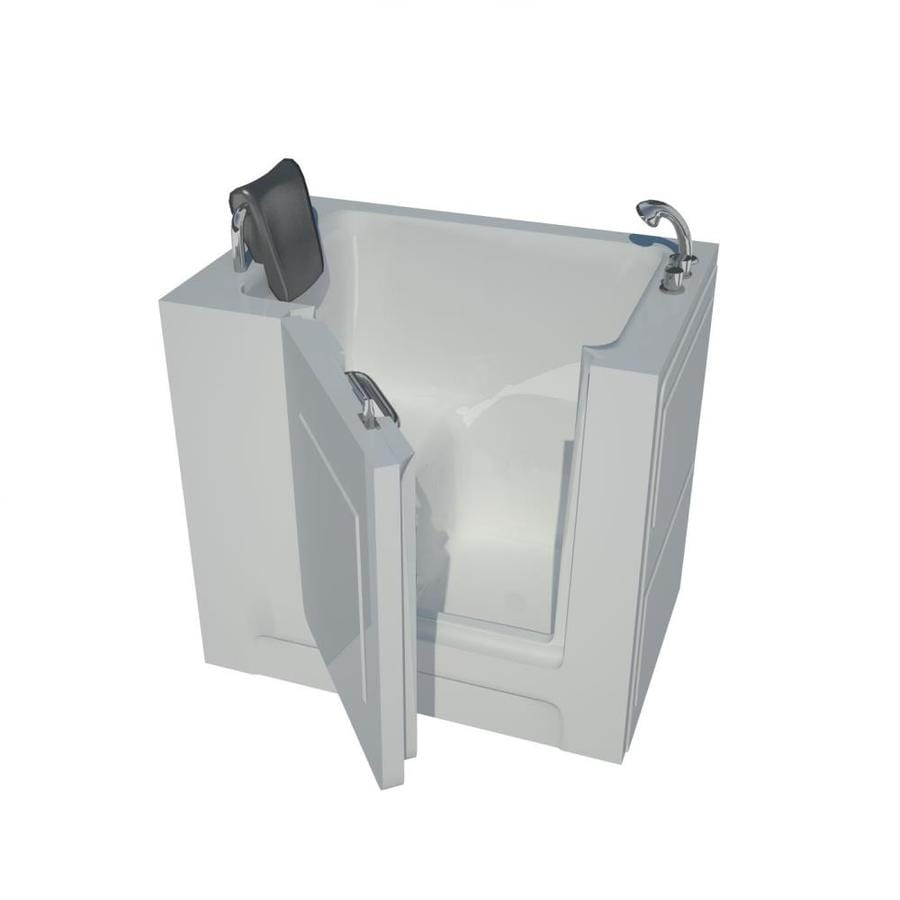 Endurance Acrylic Rectangular Walk-in Bathtub with Right-Hand Drain (Common: 54-in x 30-in; Actual: 36-in x 39-in x 27-in)