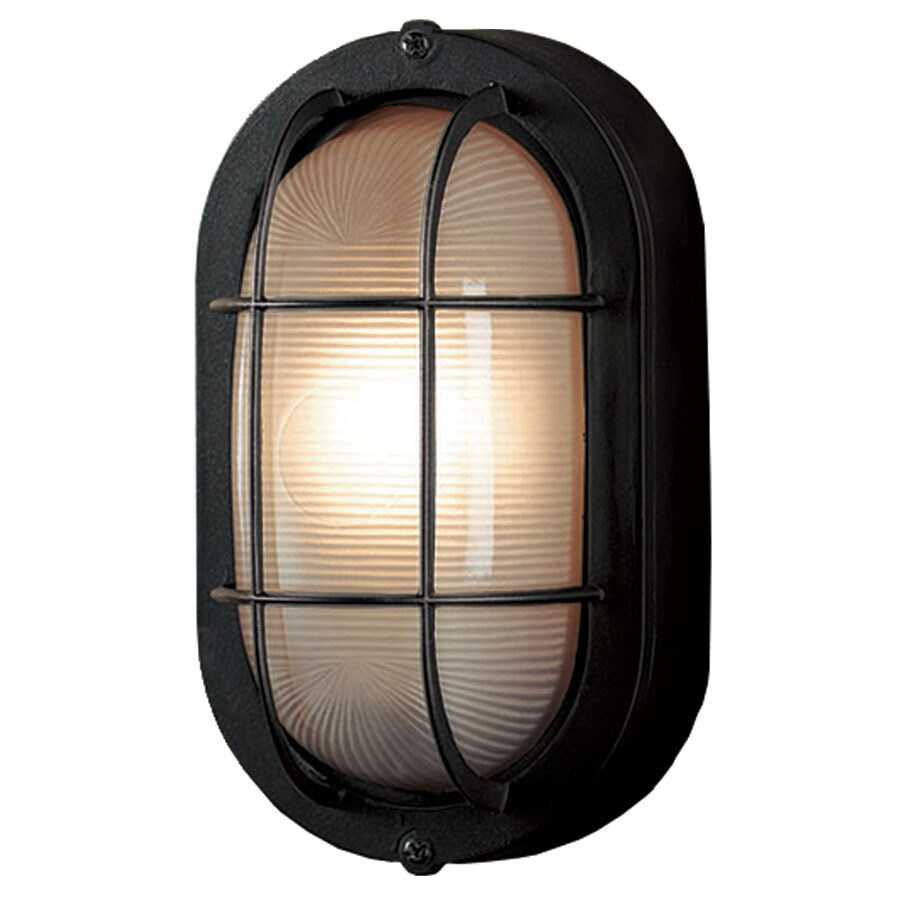 Shop Portfolio 8.27-in H Sand Black Outdoor Wall Light at Lowes.com