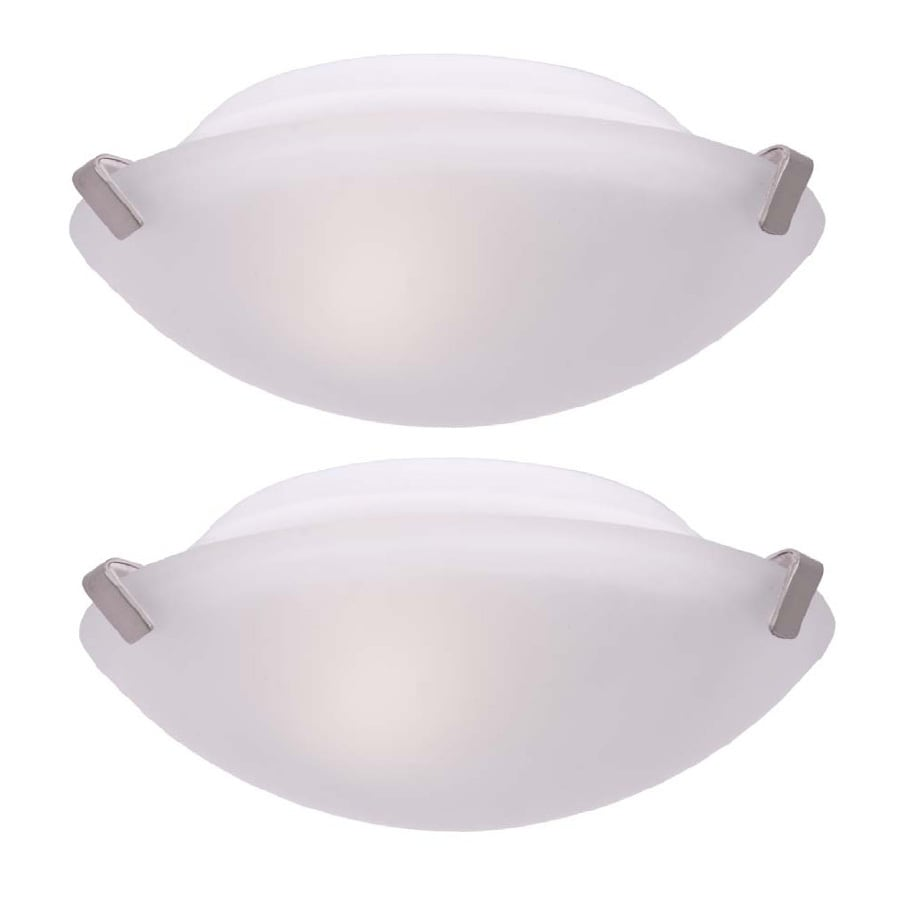Project Source 2-Pack 9.25-in W White Ceiling Flush Mount Light
