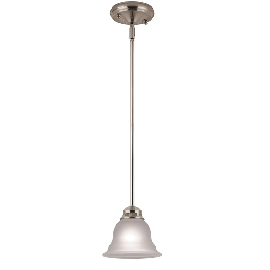 Project Source Fallsbrook 6.89-in Brushed Nickel Mini Pendant