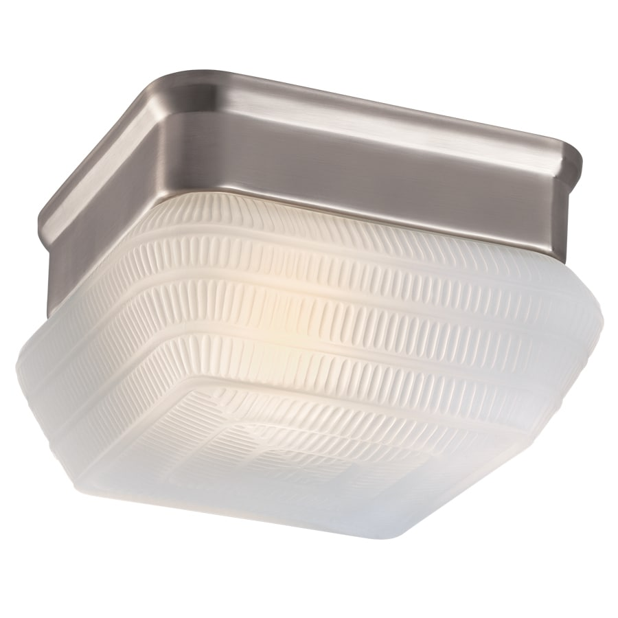 Project Source 7.09-in W Brushed Nickel Ceiling Flush Mount Light