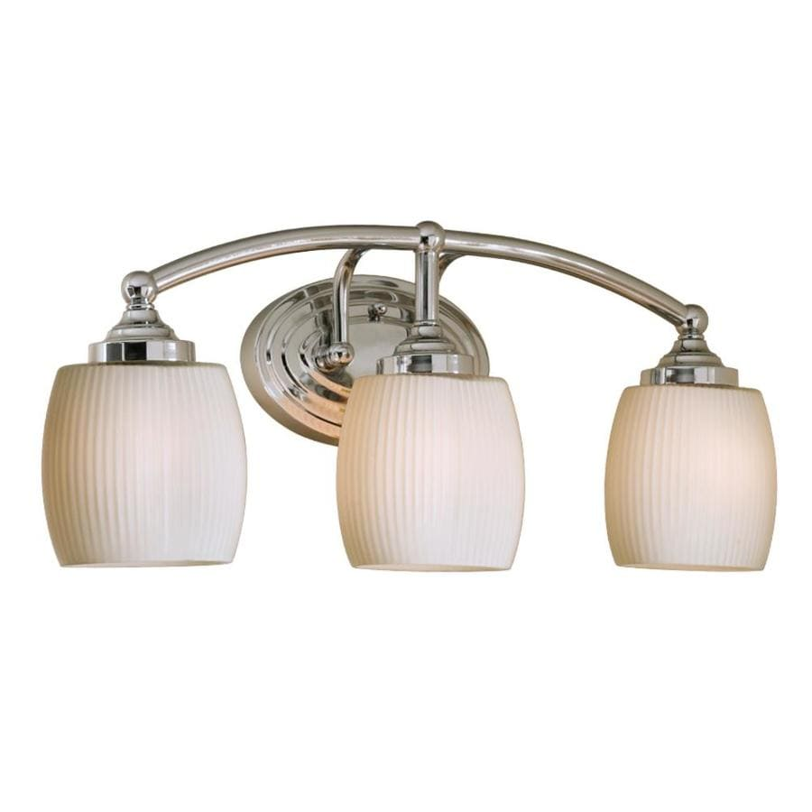Shop style selections 3 light calpin chrome bathroom for Bathroom vanity lights