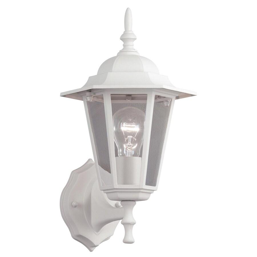 Wall Lantern Portfolio Outdoor : Portfolio Trevett 17.63-in H Matte Black Outdoor Wall Light FS130125-36 Price Tracking