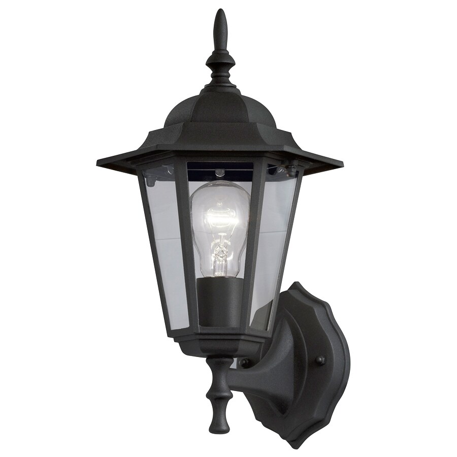 Portfolio Trevett 17.63-in H Matte Black Outdoor Wall Light FS130125-36 Price Tracking