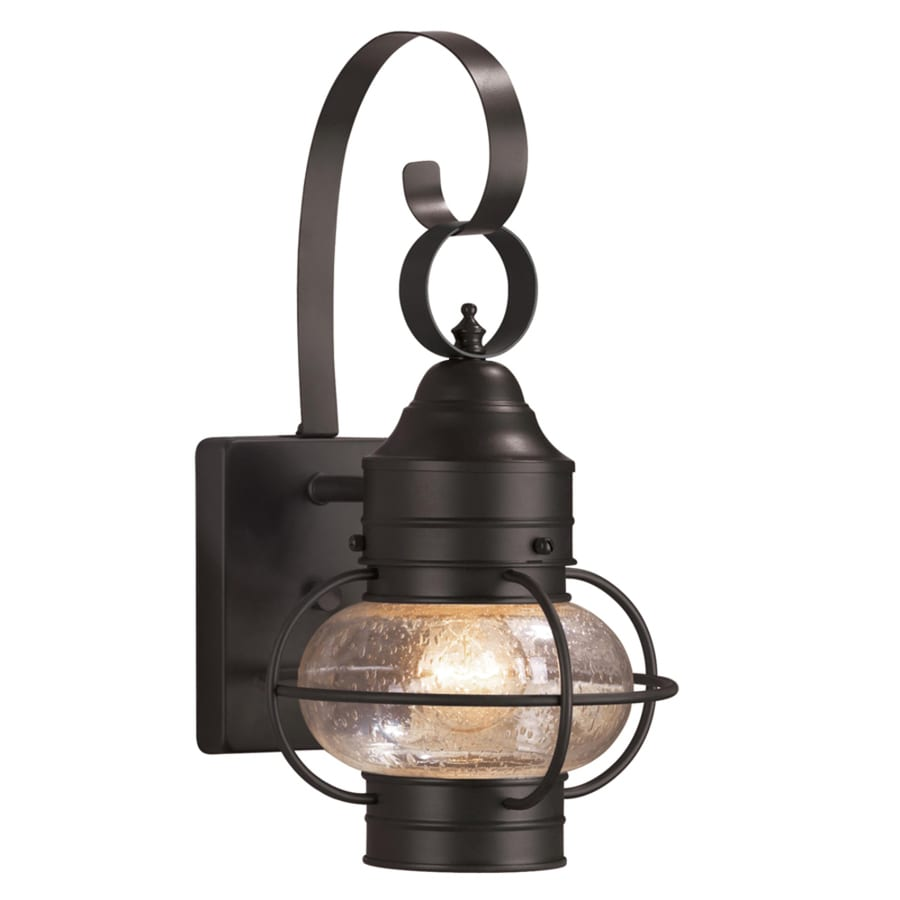 Outdoor Wall Lights Types: Shop Portfolio Trevett 14-in H Matte Black Outdoor Wall