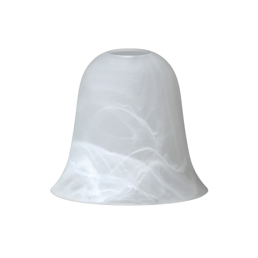 5.43-in H 6.02-in W Frosted Alabaster Glass Bell Pendant Light Shade