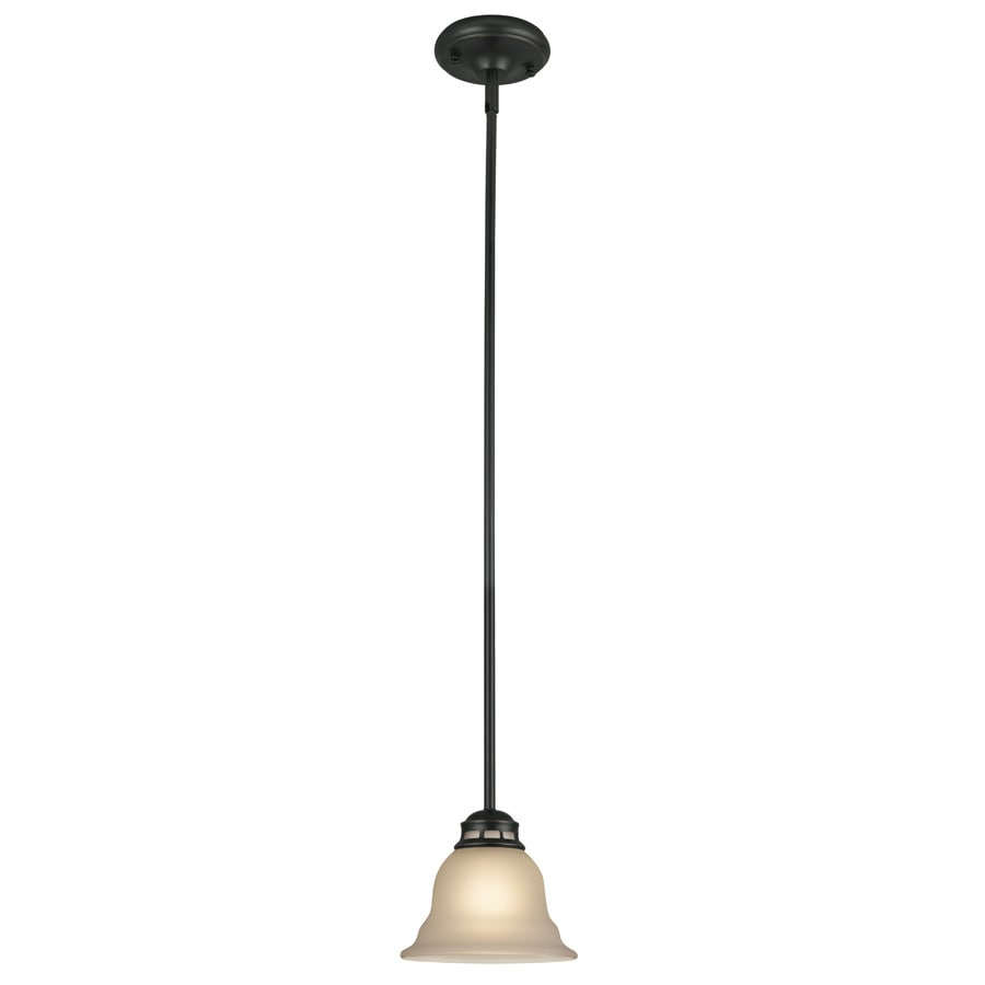 Project Source Fallsbrook 6.89-in Oil-Rubbed Bronze Mini Pendant