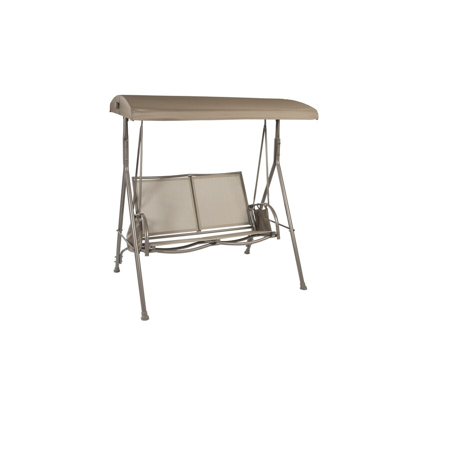 Garden Treasures 2-Seat Steel Casual Porch Swing