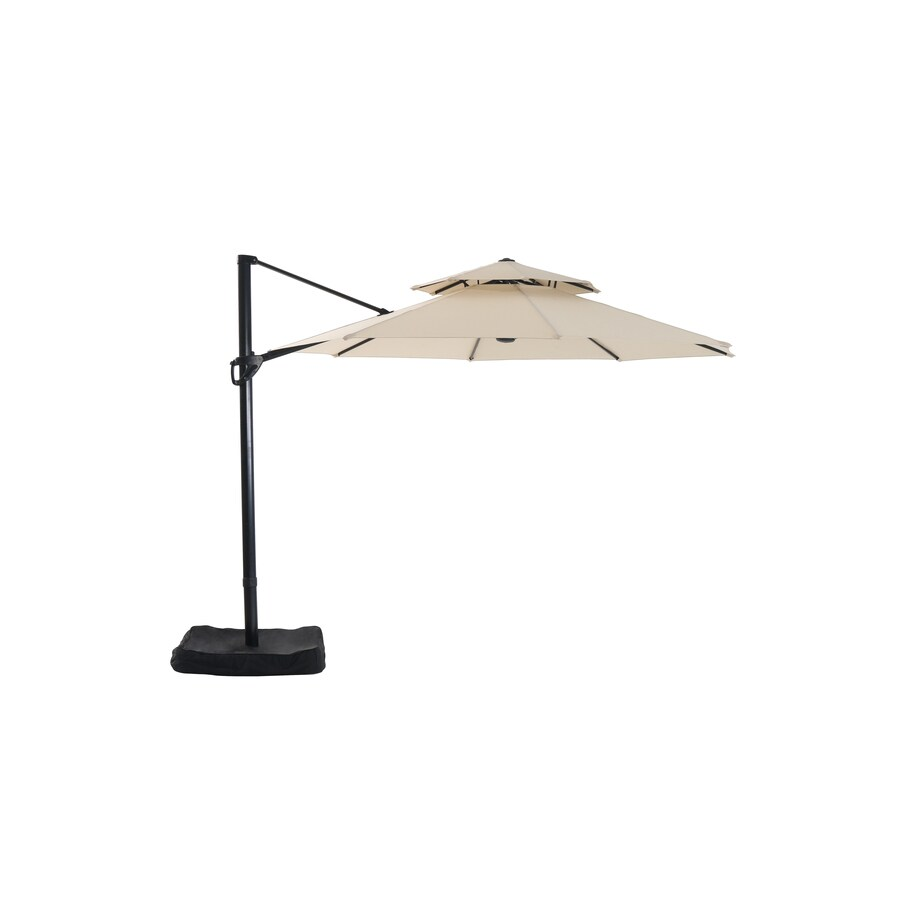 shop garden treasures patio umbrella common 126 in w x