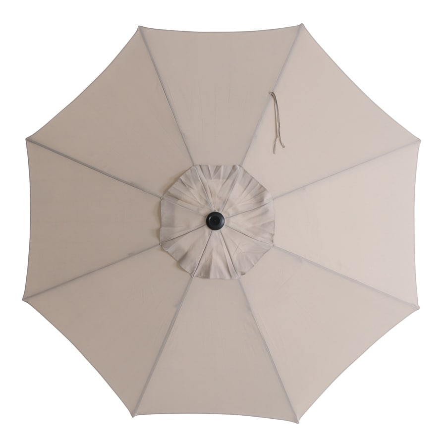 Garden Treasures Market Patio Umbrella (Common: 8.56-ft W x 8.56-ft L; Actual: 8.56-ft W x 8.56-ft L)