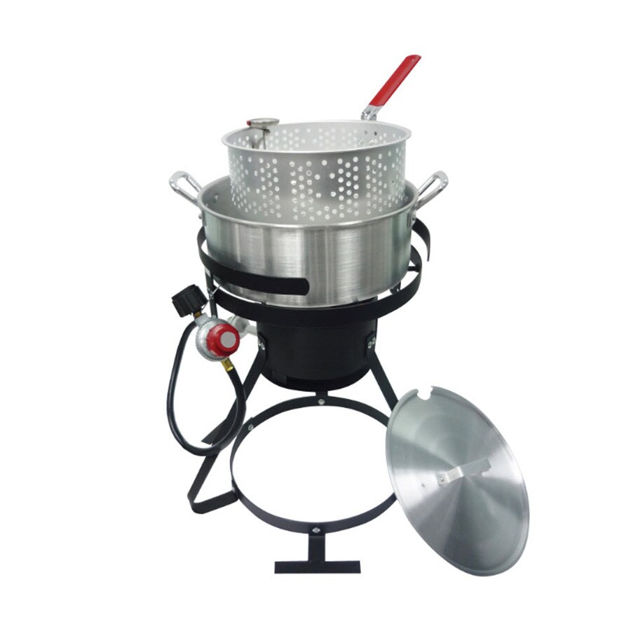 Kamp Kitchen 10-Quart 20-lb Cylinder Manual Ignition Gas Fryer