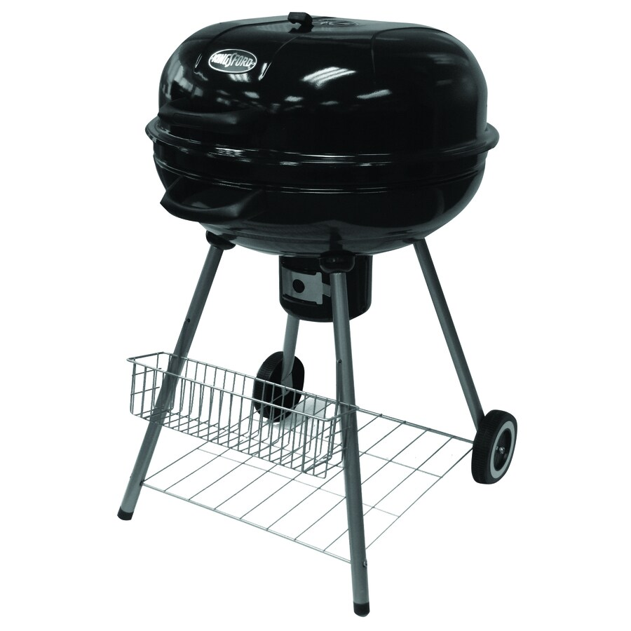 Shop Kingsford 22 83 In Black Kettle Charcoal Grill At Lowes Com