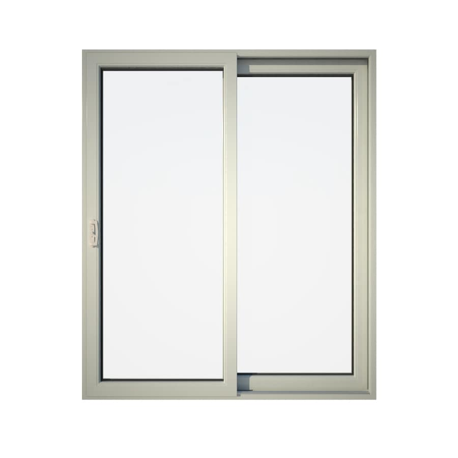 Eurowindows Group Endless Patio 71.5-in Clear Glass Vinyl Sliding Patio Door