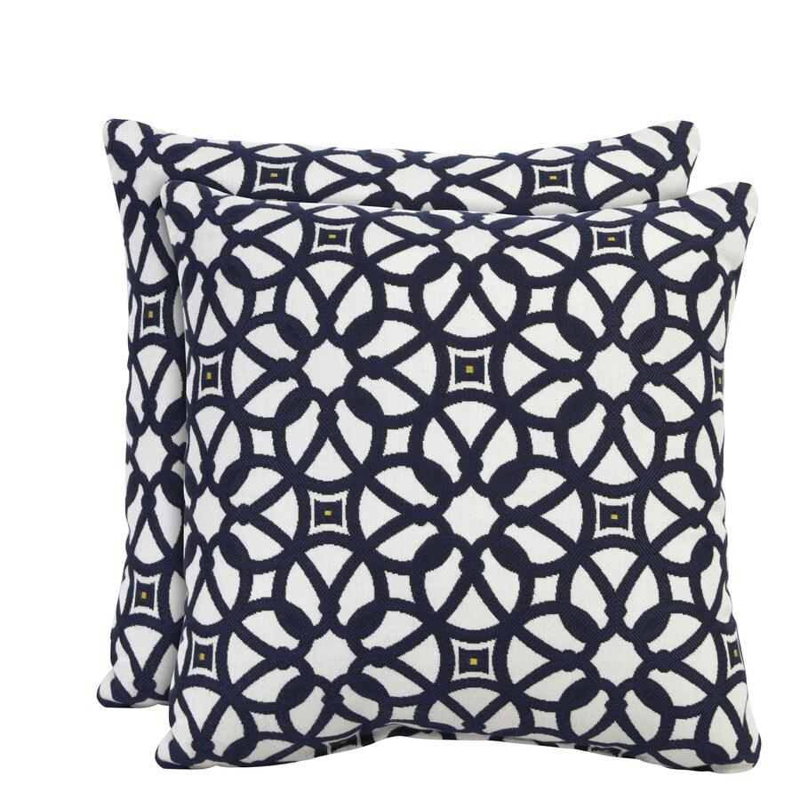 allen + roth Set of 2 Sunbrella Indigo UV-Protected Outdoor Decorative Pillows