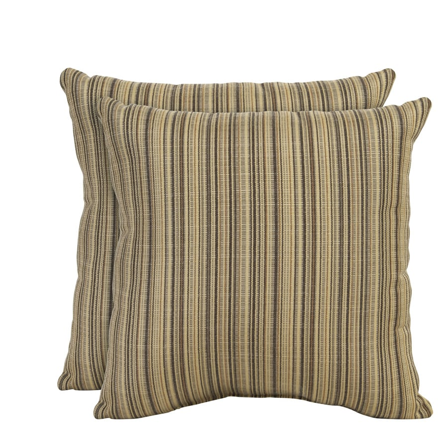 allen + roth Set of 2 Sunbrella Birch UV-Protected Square Outdoor Decorative Pillows