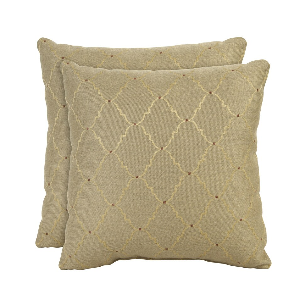 allen + roth Set of 2 Sunbrella Burnish UV-Protected Outdoor Decorative Pillows