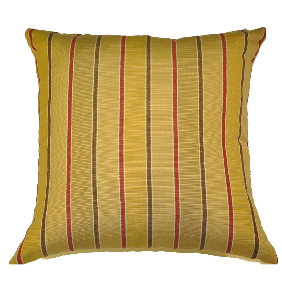 allen + roth Set of 2 Sunbrella Goldenrod UV-Protected Outdoor Decorative Pillows