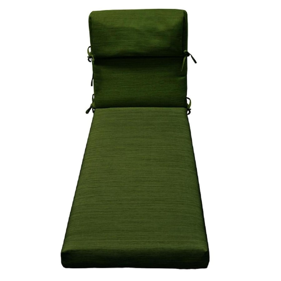 Shop allen roth green texture cushion for chaise lounge for Allen roth steel patio chaise lounge