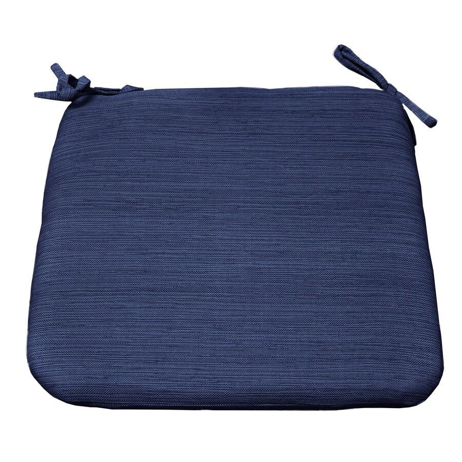 allen + roth Navy Texture Cushion for Bistro Chair