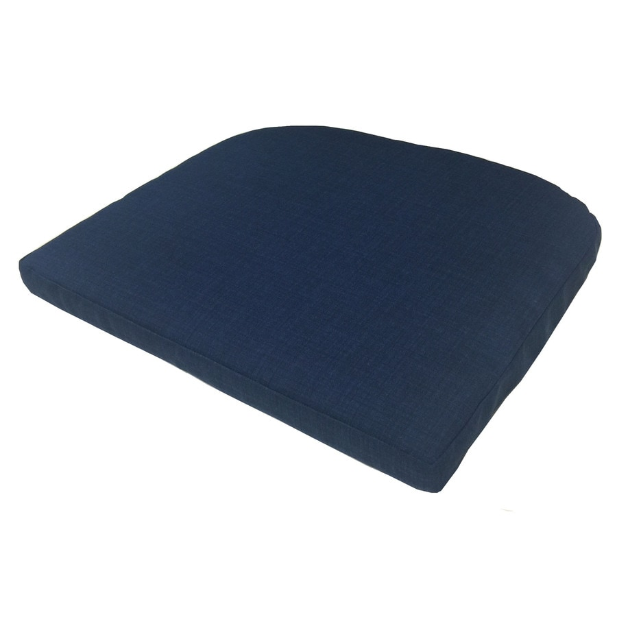 Garden Treasures Blue Texture Seat Pad for Bistro Chair