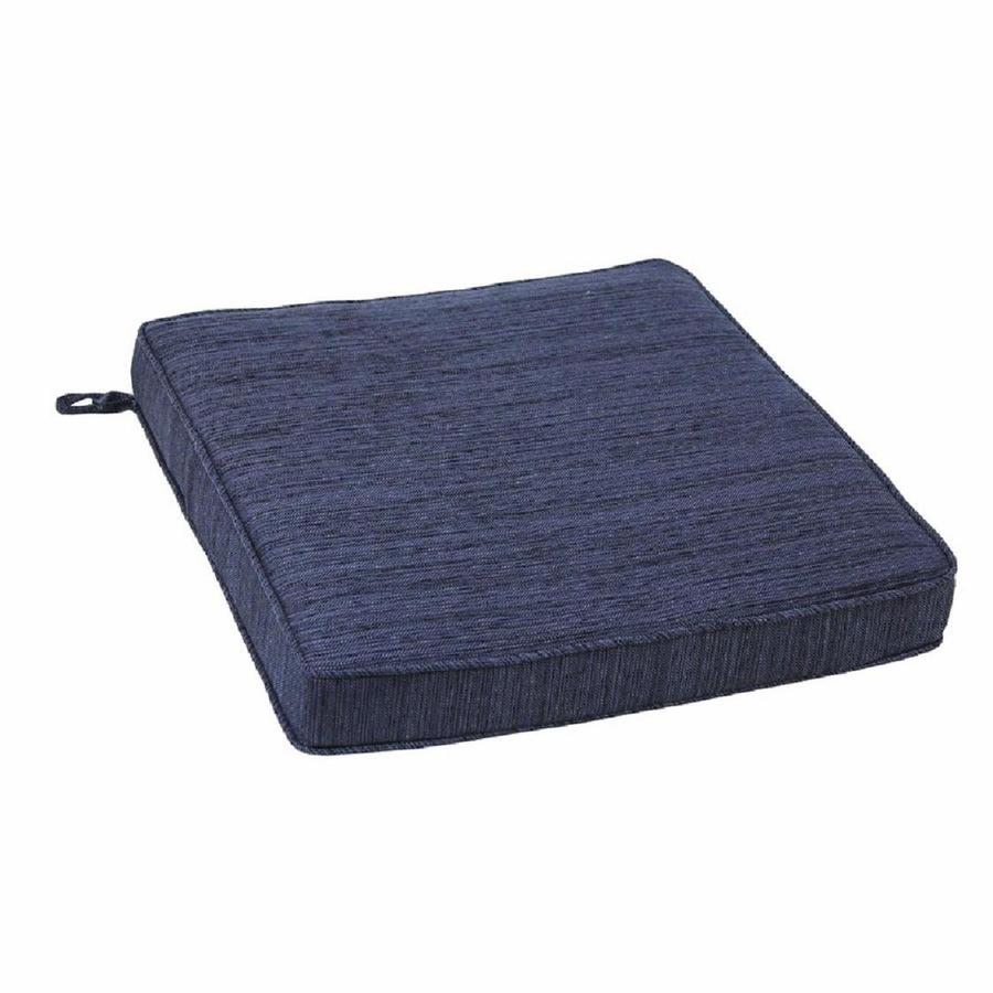 allen + roth Navy Texture Cushion for Bistro Chair