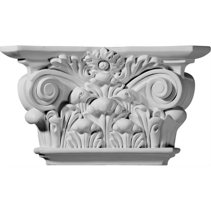 Ekena Millwork Acanthus 12.25-in x 0.57-ft Urethane Capital Entry Door Casing Accent