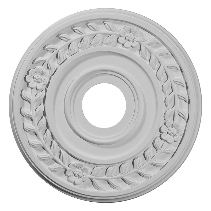 Ekena Millwork Wreath 16.25-in x 16.25-in Polyurethane Ceiling Medallion