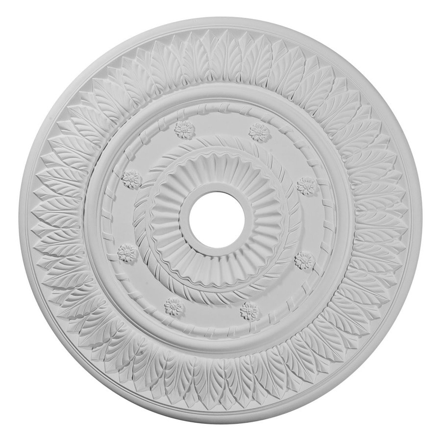 Ekena Millwork Leaf 26.75-in x 26.75-in Polyurethane Ceiling Medallion