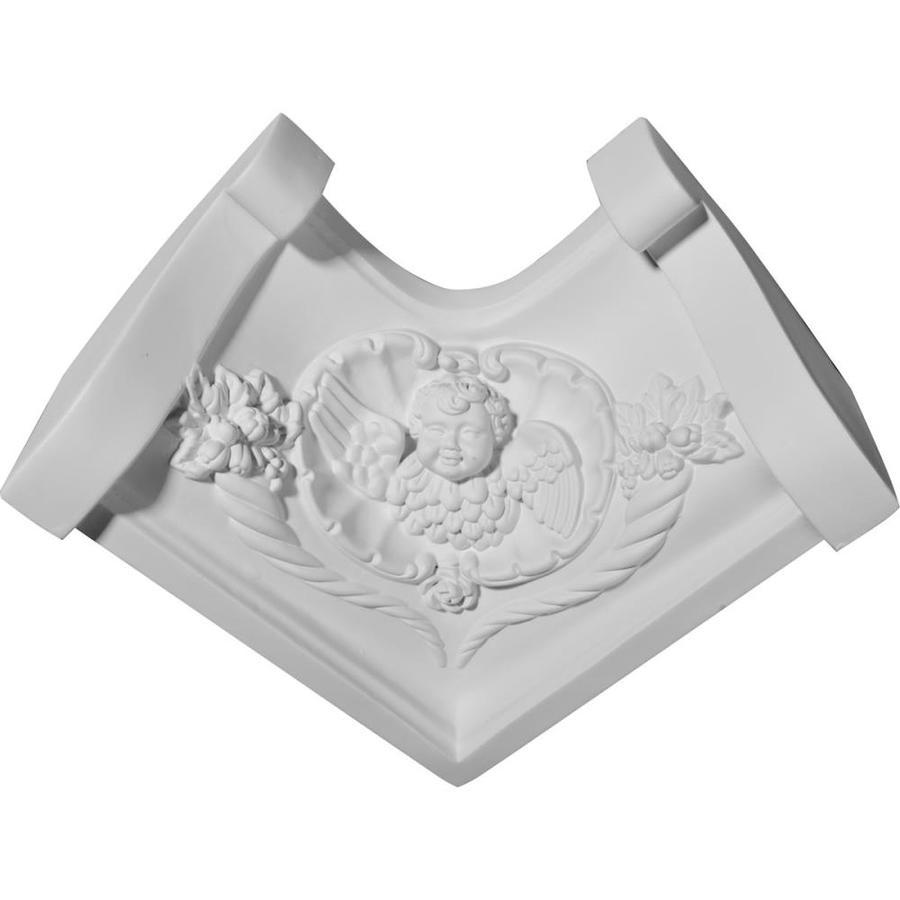 Ekena Millwork 3.75-in x 3.75-in Polyurethane Inside Corner Crown Moulding Block