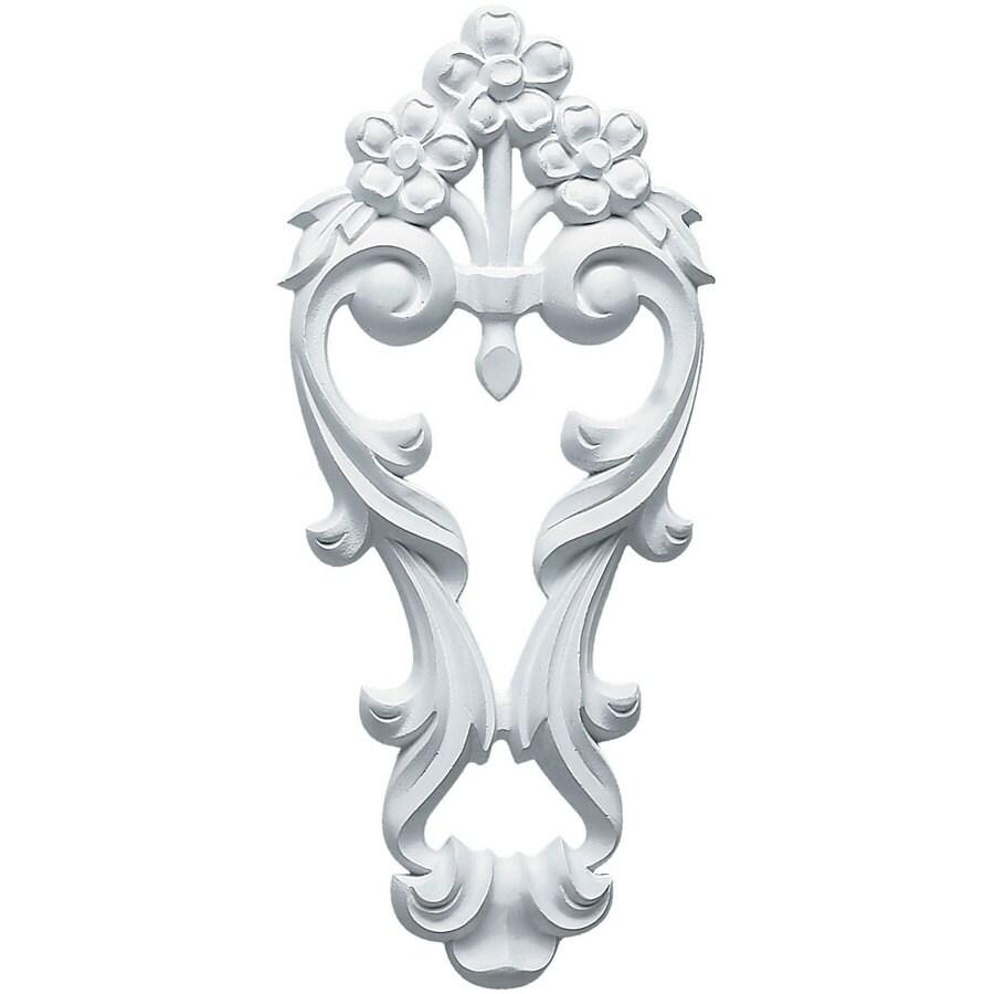 Ekena Millwork 4.5-in x 10-in Flower Urethane Applique