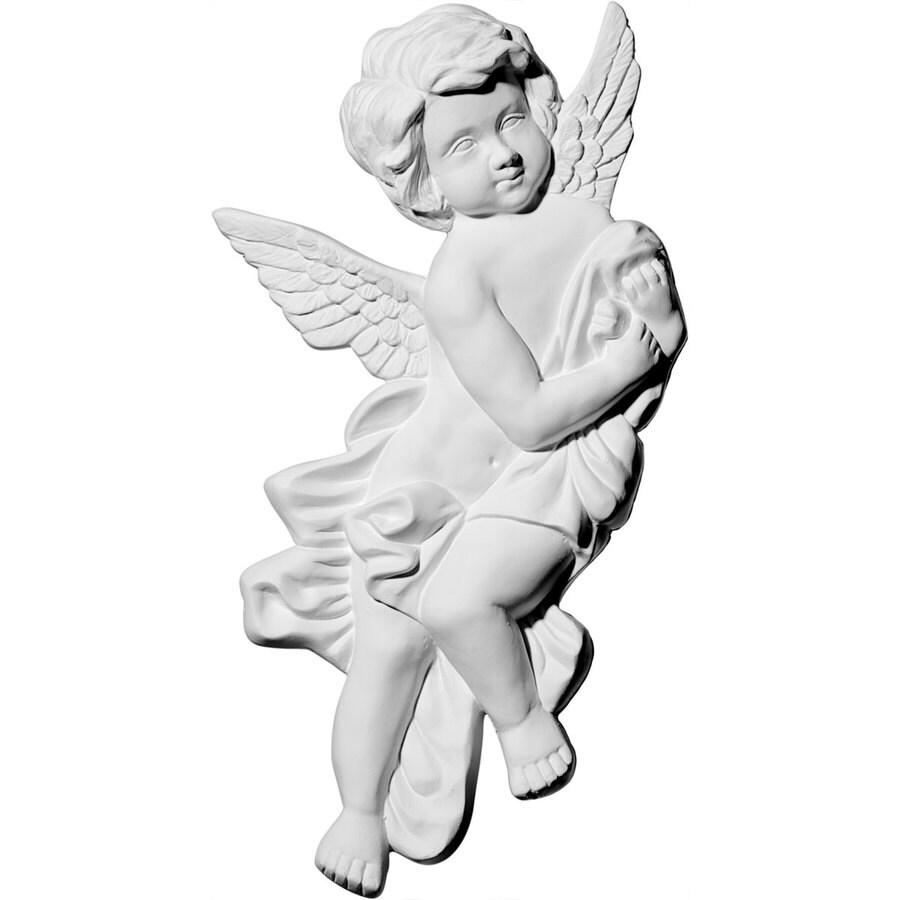 Ekena Millwork 10.625-in x 9.375-in Pompeii Angel Urethane Applique