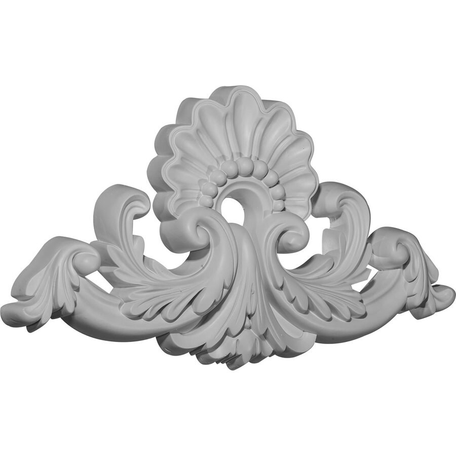 Ekena Millwork 16-in x 8.875-in Shell Urethane Applique
