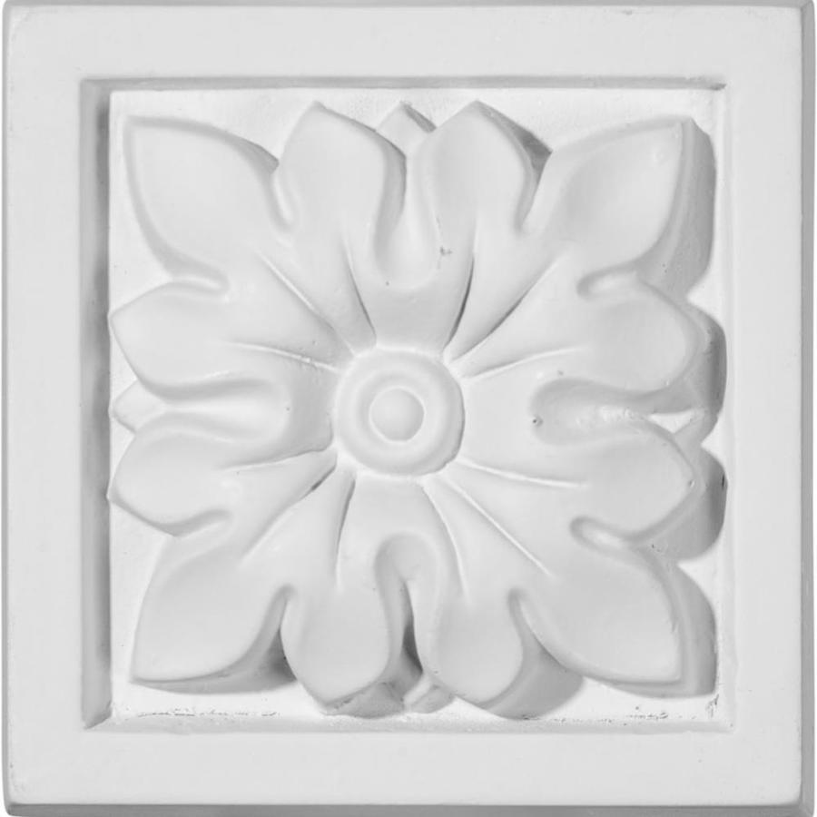 Ekena Millwork Floral 3.5-in x 3.5-in Polyurethane Plinth