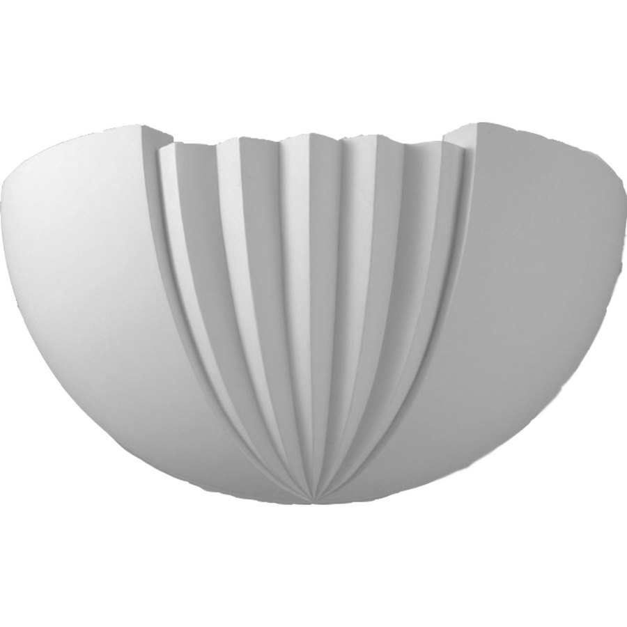 Ekena Millwork Traditional 7-in x 16.5-in Polyurethane Sconce