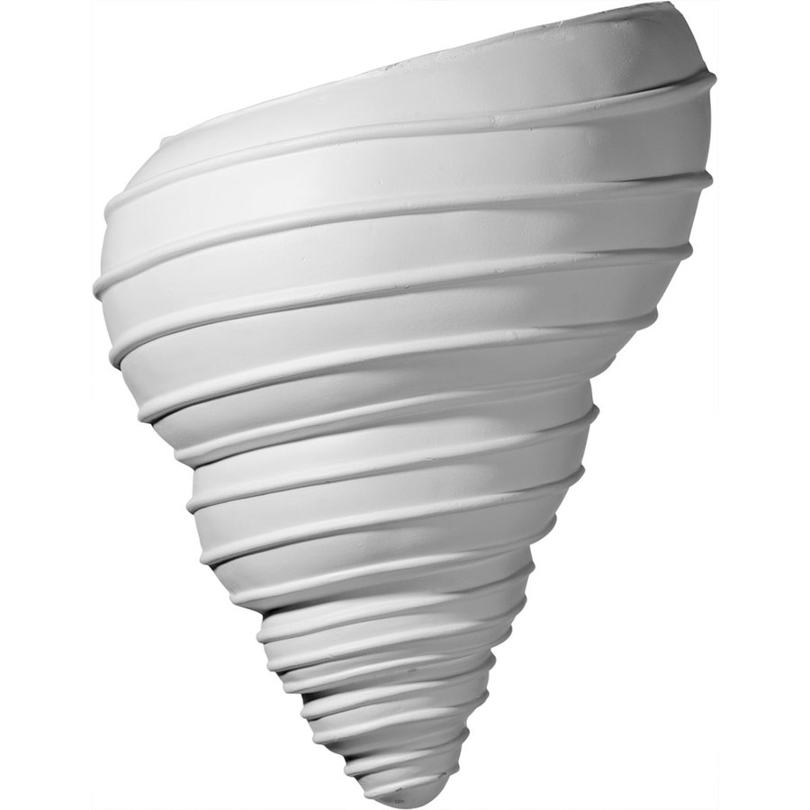Ekena Millwork Spiral Shell 10.125-in x 12.5-in Polyurethane Sconce