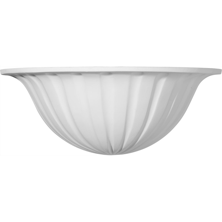Ekena Millwork Traditional 12.75-in x 4.875-in Polyurethane Sconce