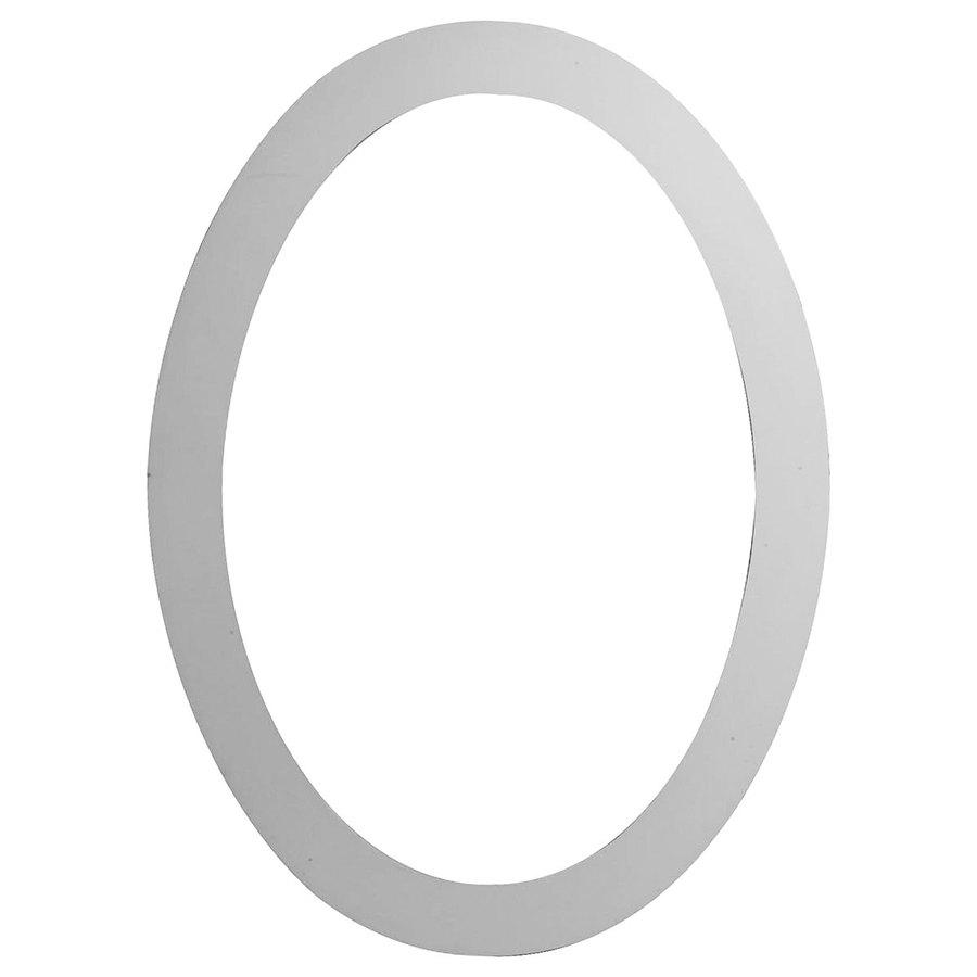 Ekena Millwork 30-in x 42-in White Oval Urethane Gable Vent