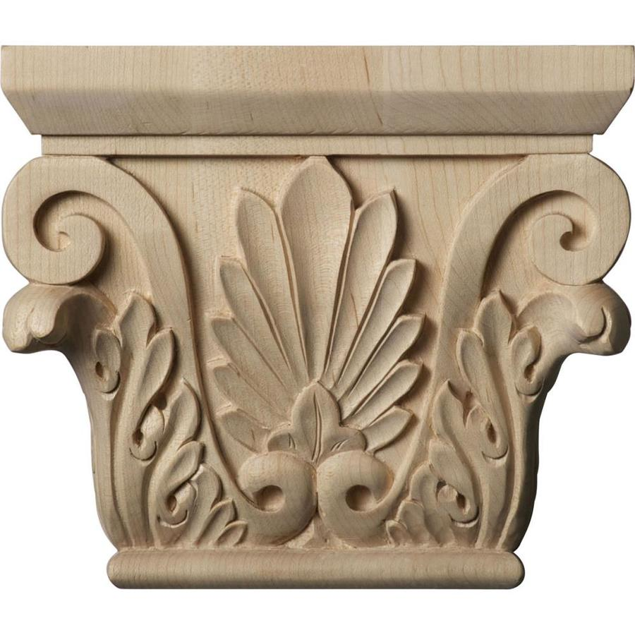Ekena Millwork Chesterfield 6.5-in x 0.46-ft Cherry Wood Capital Entry Door Casing Accent