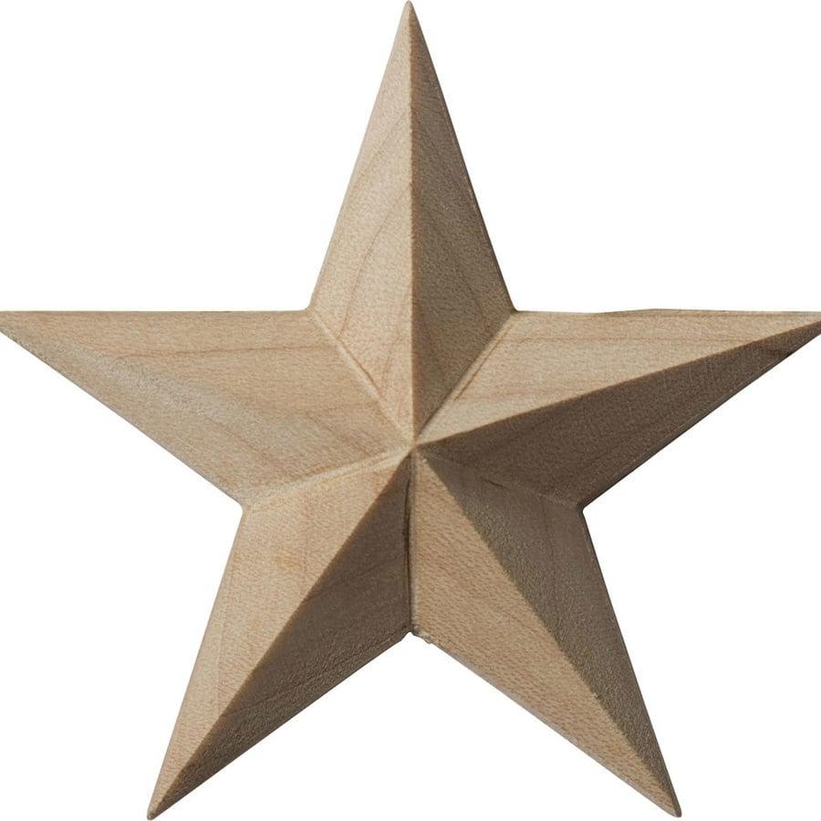 Ekena Millwork 2.75-in x 2.75-in Galveston Star Wood Applique