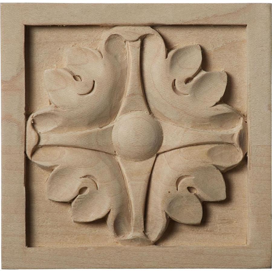 Ekena Millwork Medium Edinburgh Square Wood Rosette