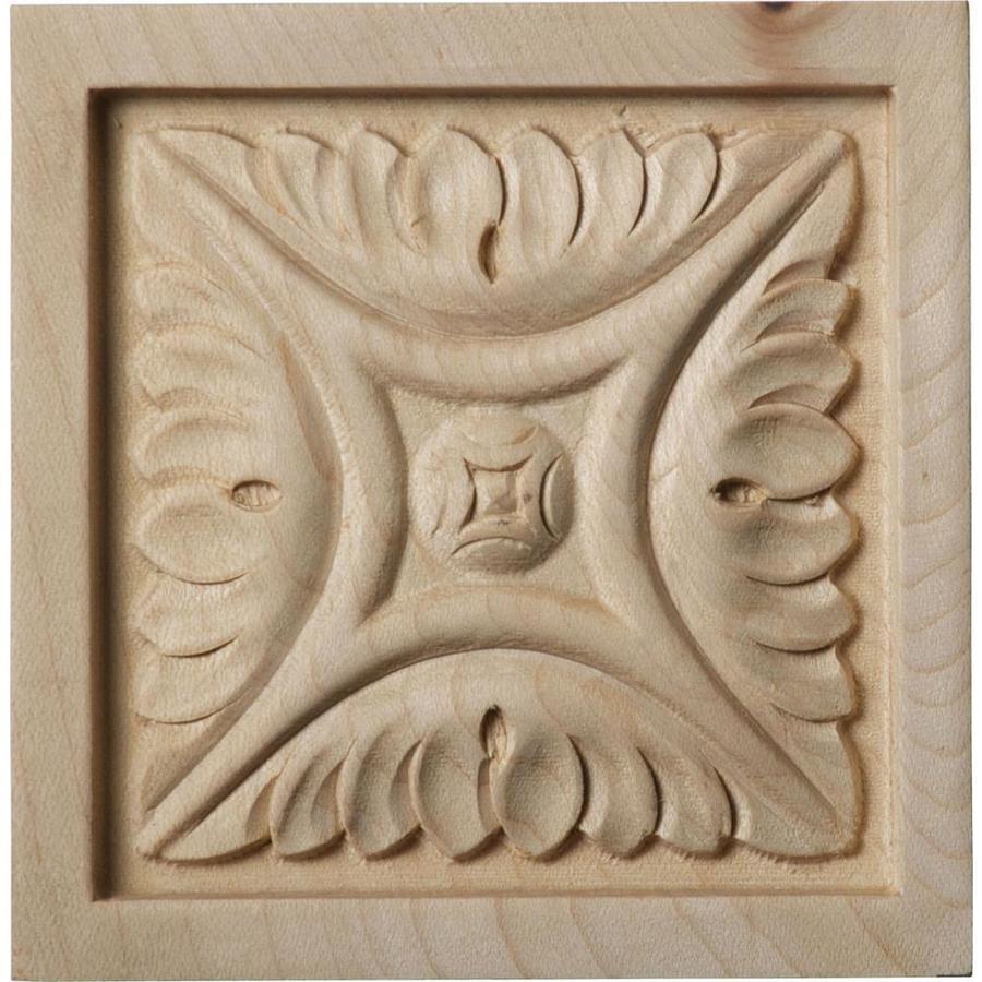 Ekena Millwork Medium Middlesbrough Square Wood Rosette