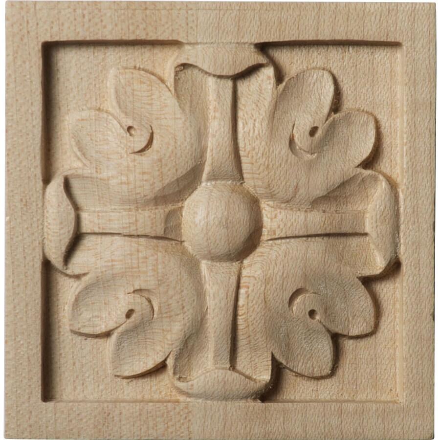 Ekena Millwork Small Edinburgh Square Wood Rosette