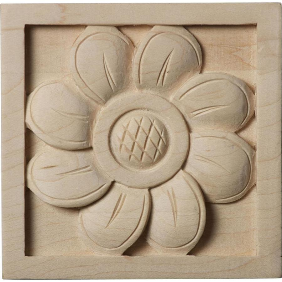 Ekena Millwork Small Sunflower Square Wood Rosette